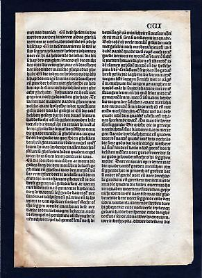 1499 Blatt CVI Inkunabel Vita Christi Zwolle incunable Dutch Holland