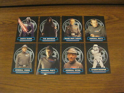 Topps Star Wars Rogue One Mission Briefing VILLAINS of the GALACTIC EMPIRE Set