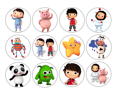 12/24/30/48/60/personalised  LITTLE BABY BUM CUPCAKE TOPPERS RICE PAPER BIRTHDAY