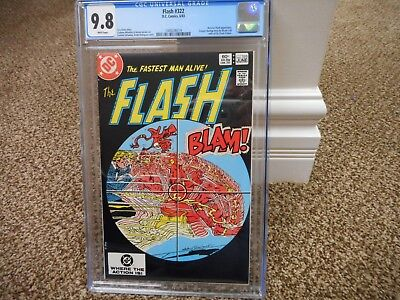 Flash 322 cgc 9.8 IMPOSSIBLE BLACK cover DC 1983 Reverse Flash WHITE pgs MINT