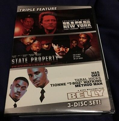 King of New York/State Property/Belly (DVD, 2009, 3-Disc Set) New Sealed Free SH