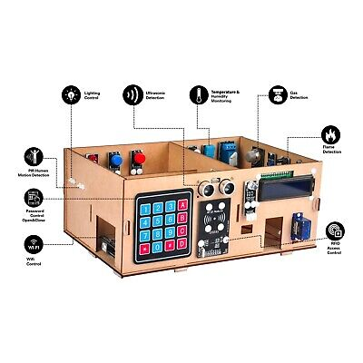 Smart Home Yun IoT Kit for Arduino Wooden Model Android/iOS WIFI Remote Control