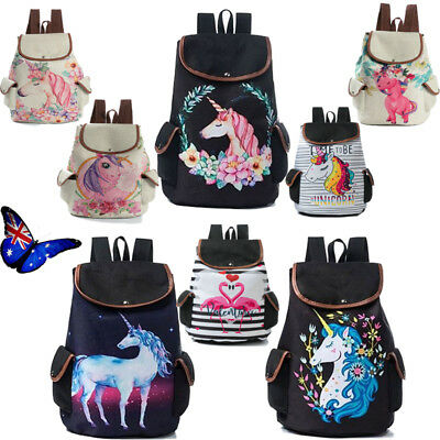 Girls-Rainbow-Unicorn-Backpack-Cartoon-Rucksack-Kids-School-Bags-Travel-Laptop