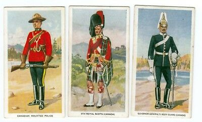 1939 Lot of  3 British Empire Military Soldiers Cards Canadian Mounted Police ++