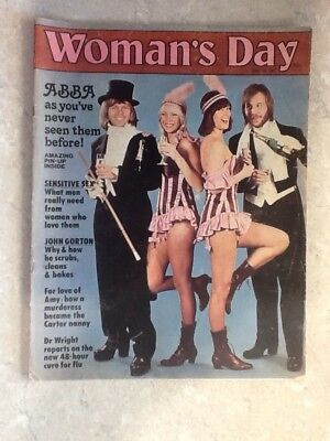 ABBA Front Cover and Full Page Pin Up Australian Woman's Day May 16,1977.