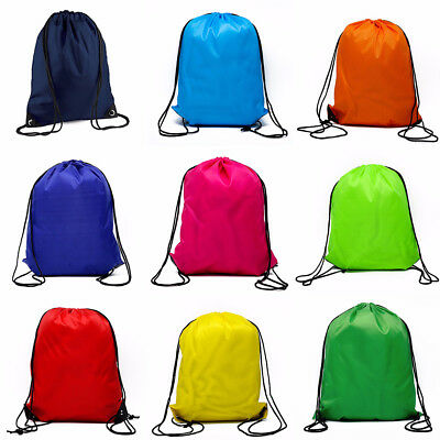 NEW Cinch Sack Storage School Gym Drawstring Bag Pack Backpack Pouch Waterp SPB