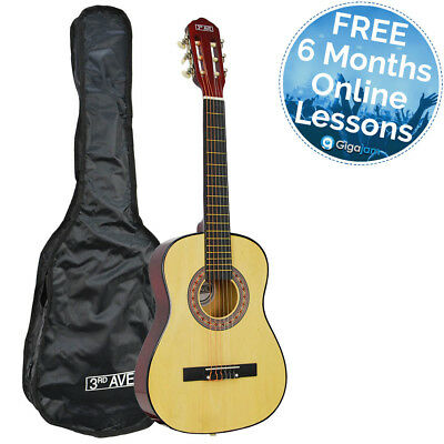 3rd Avenue 1/2 Size Children's Classical Guitar for Beginners with Free Bag