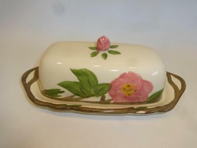 Vintage 1960's Franciscan Covered English Butter Dish Made In England
