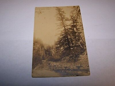 Old Real Photo Peoples Creek Canyon Near St Pauls Montana Rocky Road & Trees