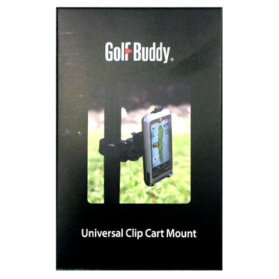 GolfBuddy Universal Clip Cart Mount Golf Trolley Caddy - schwarz - UVP 39,95€