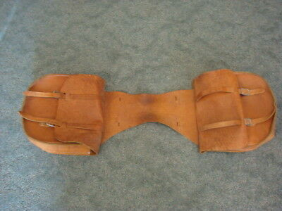 Large Vintage Quality Heavy-Duty Leather SADDLE BAGS Western Cowboy Horse Tack