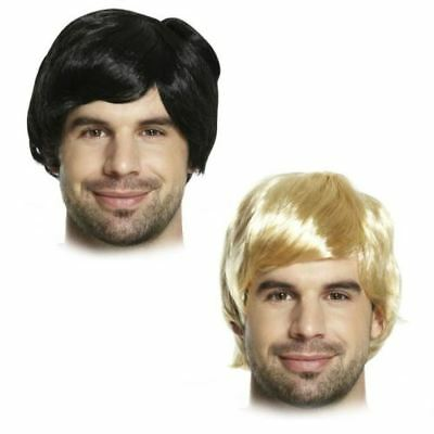 Adult Mens 60s 70s 80s Short Boy Band Wig Fancy Dress Accessory Male Fun U36 045