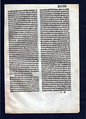 1499 Blatt XCIX Inkunabel Vita Christi Zwolle incunable Dutch Holland