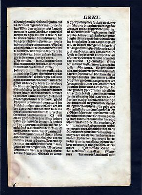1499 Blatt LXXII Inkunabel Vita Christi Zwolle incunable Dutch Holland