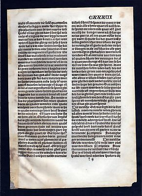 1499 Blatt CXXXVI Inkunabel Vita Christi Zwolle incunable Dutch Holland