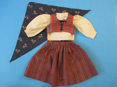 American Girl Pleasant Company Kirsten Swedish Dirndl Kerchief Only Blue Floral