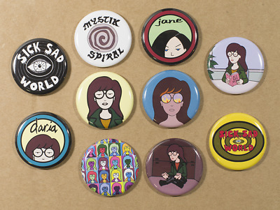 Daria Pin Buttons Badge Magnet 1.25in Cartoon Starbucks TV Show Coffee Girl New