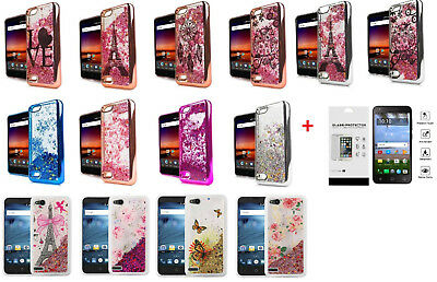 FOR ZTE BLADE Spark / Grand X4 Liquid Glitter Bling Case Cover +