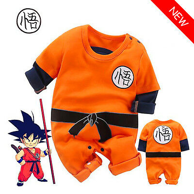 Baby Boys Dragon Ball Goku Costume Romper Jumpsuit Bodysuit Outfits Clothes Sets