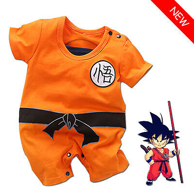 Baby Dragon Ball Goku Baby Costume Infant Boy Romper Bodysuit Outfits Summer