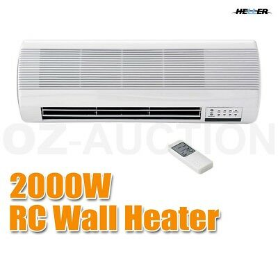 Heller Electric Ceramic Wall Mountable Heater Indoor RC 2 Heat Timer 2000W