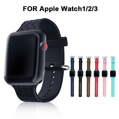 Watch Replacement Silicone Band Strap For Apple Watch Series 1/2/3/4 38/42mm