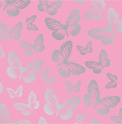 Pink Butterfly Wallpaper 10M Long Kids Girls Bedroom Wallpaper Decor