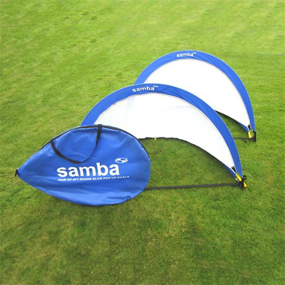 Samba Sports 4ft Pop Up Football Goals Pair With Anchoring Pegs Attachment
