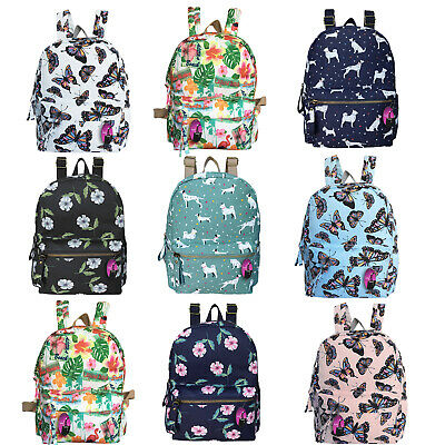 Small Backpack Printed Pattern Mini Bag Ladies Girls School Handbag Rucksack