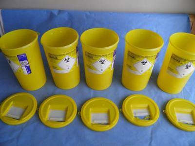 Sharps Safe Hazardous Waste Bin 5 Litre X 5 Bins Cheaper Multi Buy Sharpsguard