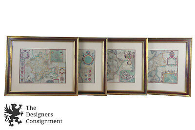4 European British Isles Reproduction Map Prints Great England Ireland Scotland