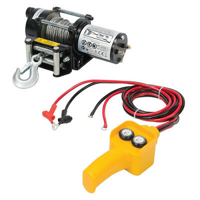 12V 2000LBS Electric Recovery Winch Steel Rope Held control For Boat & Trailer