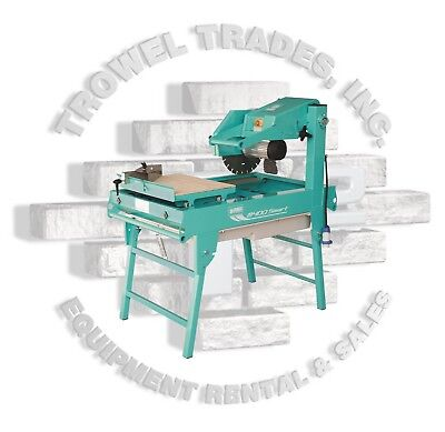 "Imer 1188975 Masonry 350 Smart Cut Saw 14"" Masonry Saw 2HP 110 Volt 15 AMP"