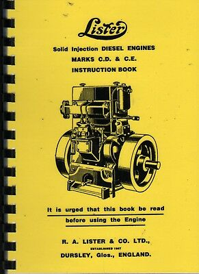 Lister  Solid Injection Diesel Engines Marks C.D. & C. E  Instruction Book