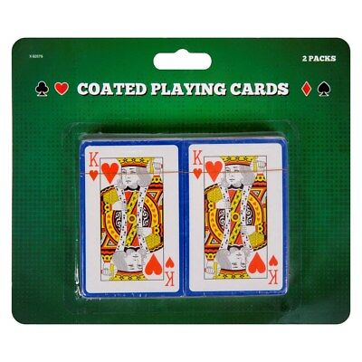 Pack of 2 PLAYING CARDS Plastic Coated Poker Gambling Snap Box Casino Magic Pair