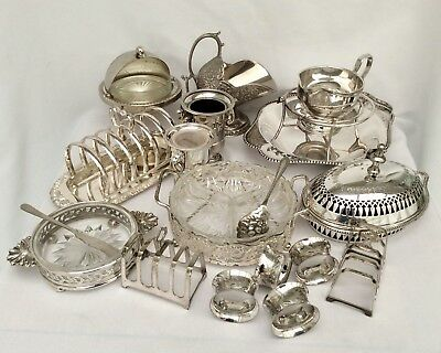 Fine Quality Joblot Of Antique/Vintage Sheffield Silver Plated Items  3.3kg