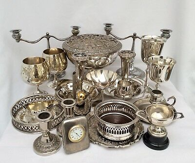 Fine Quality Joblot Of Antique/Vintage Sheffield Silver Plated Items 5.7 Kg