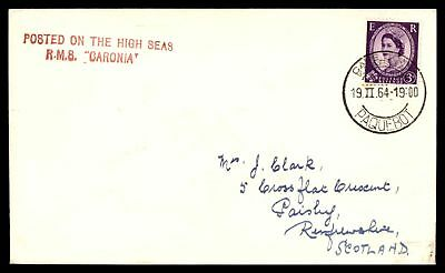 Rms Caronia Cape Town Feb 19 1964 Paquebot Cover To Paisley Scotland