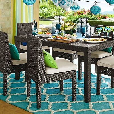 Wicker Patio Furniture Dining Set Pier 1 Imports Table Chair Orlando Brown Mocha