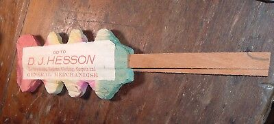 Antique Advertising Tissue fan Hesson General Store Harney taneytown Maryland