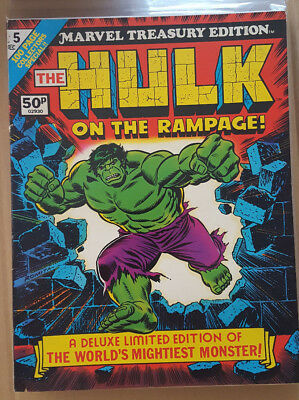 Marvel Treasury Edition : Hulk # 5, # 17, # 24, & # 26 ( 4 Issue Bundle)