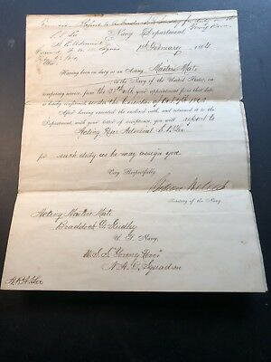 1864 Gideon Welles Secretary of Navy Civil War Signed Document U.S.S Young Rover