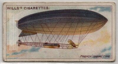 French Zodiac Iii Type Small Private Use Dirigible 100+ Y/O  Trade Ad Card