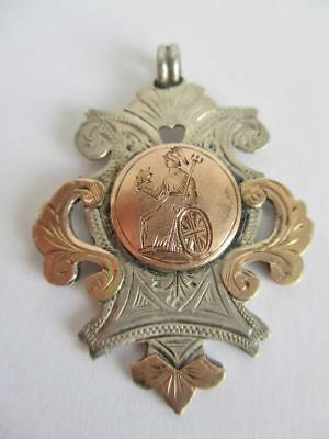 Rare 2/5 Norfolk Regiment Silver & Gold Fob Football Competition Easter 1916 H/m