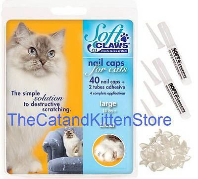 Soft Claws Nail Caps Cats Kittens Paws, Small, Medium & Large in Assorted Colors