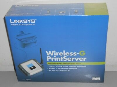 NEW Linksys Wireless-G PrintServer WPSM54G