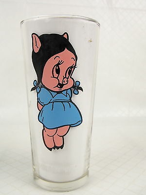 Pepsi Collector Series Glass Petunia Pig 1973 Warner Bros #8347