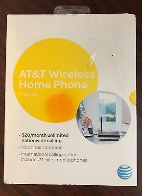 AT&T Wireless Home Phone Prepaid No-contract Wf720 New and in Box
