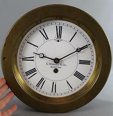 RARE Large 10.5 inch Antique E. Howard & Co. Brass Ships Clock, No Reserve!
