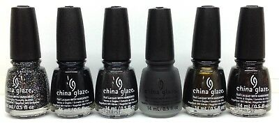 China Glaze Nail Lacquer - PAINT IT BLACK HALLOWEEN 2018 - Pick Color